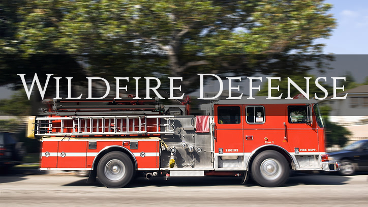 Home Insurance – Wildfire Defense Services